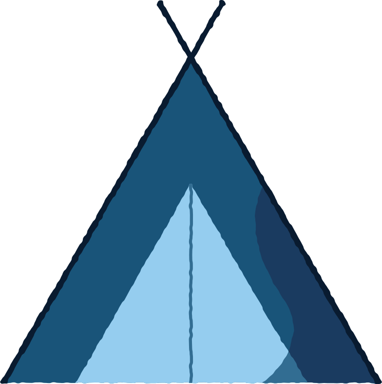 kids tent wigwam Clipart illustration in PNG, SVG