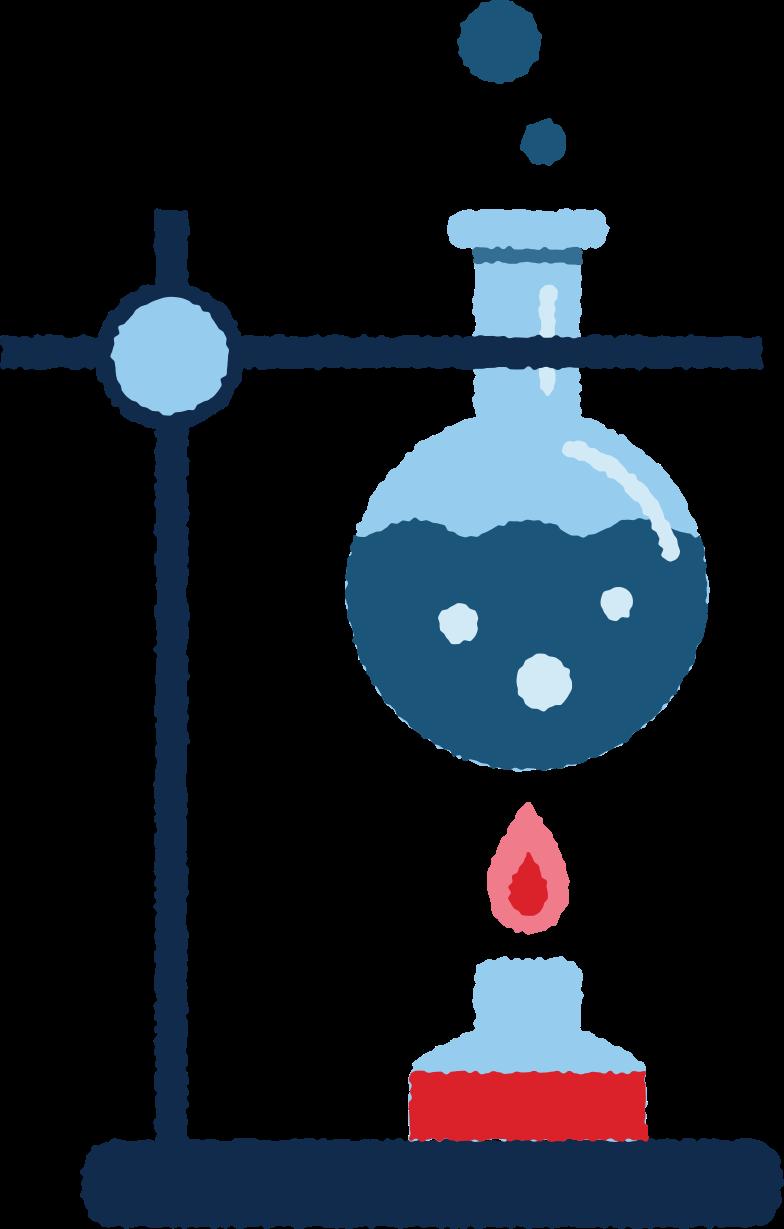 Ilustración de clipart de química en PNG, SVG