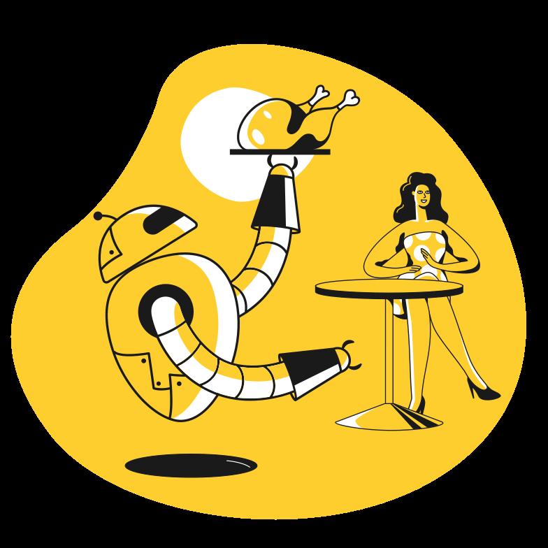 Waiter 2 Clipart illustration in PNG, SVG
