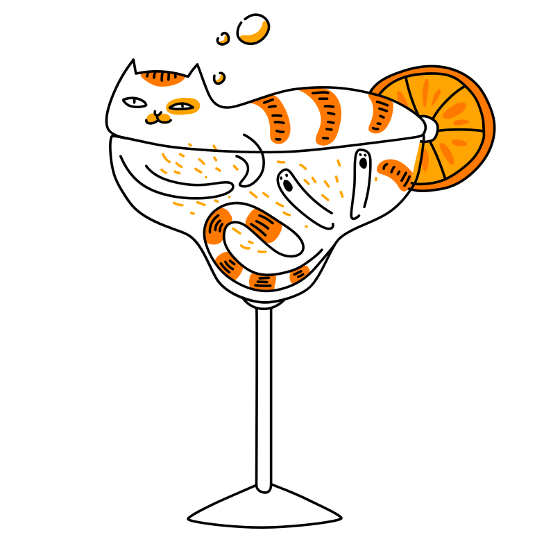 Сats are liquid Clipart illustration in PNG, SVG