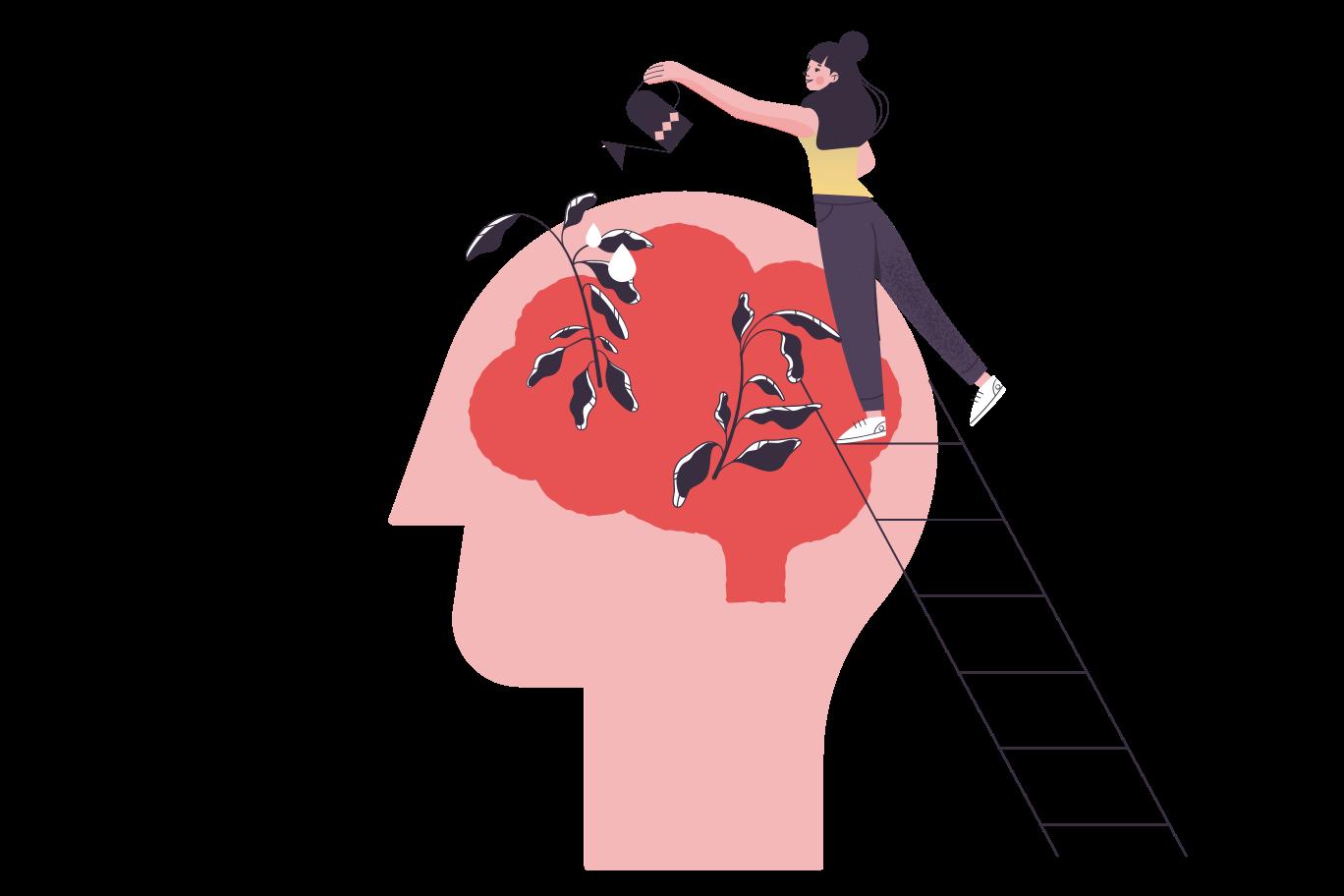 Mental health Clipart illustration in PNG, SVG
