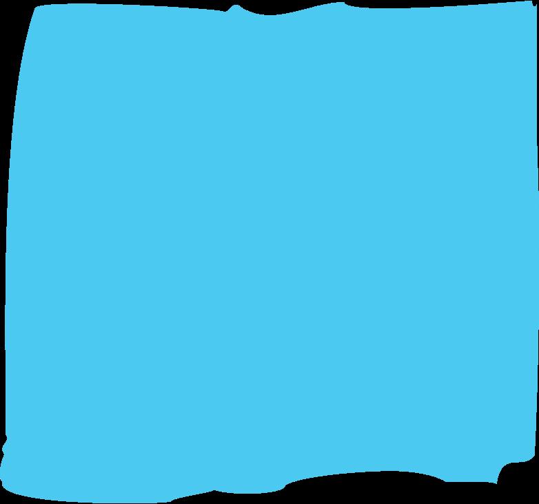 sky blue rectangle Clipart illustration in PNG, SVG