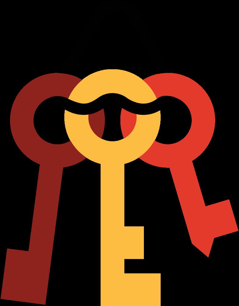 Molho de chaves Clipart illustration in PNG, SVG