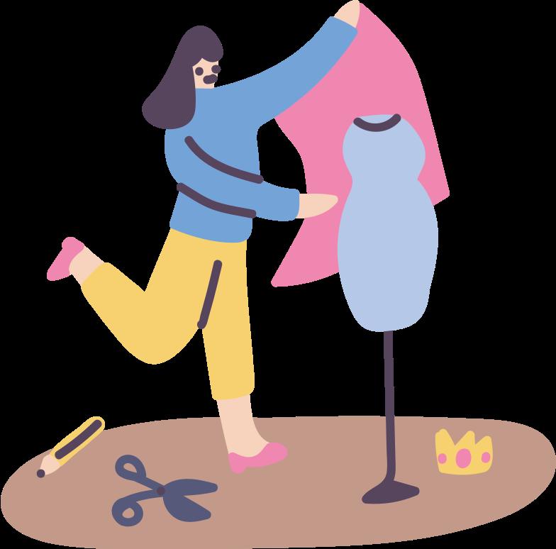 Immagine Vettoriale fare moda, avere un lavoro in PNG e SVG in stile  | Illustrazioni Icons8