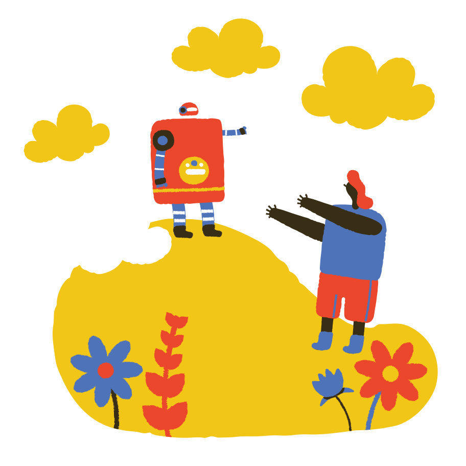 Love affair with robot Clipart illustration in PNG, SVG