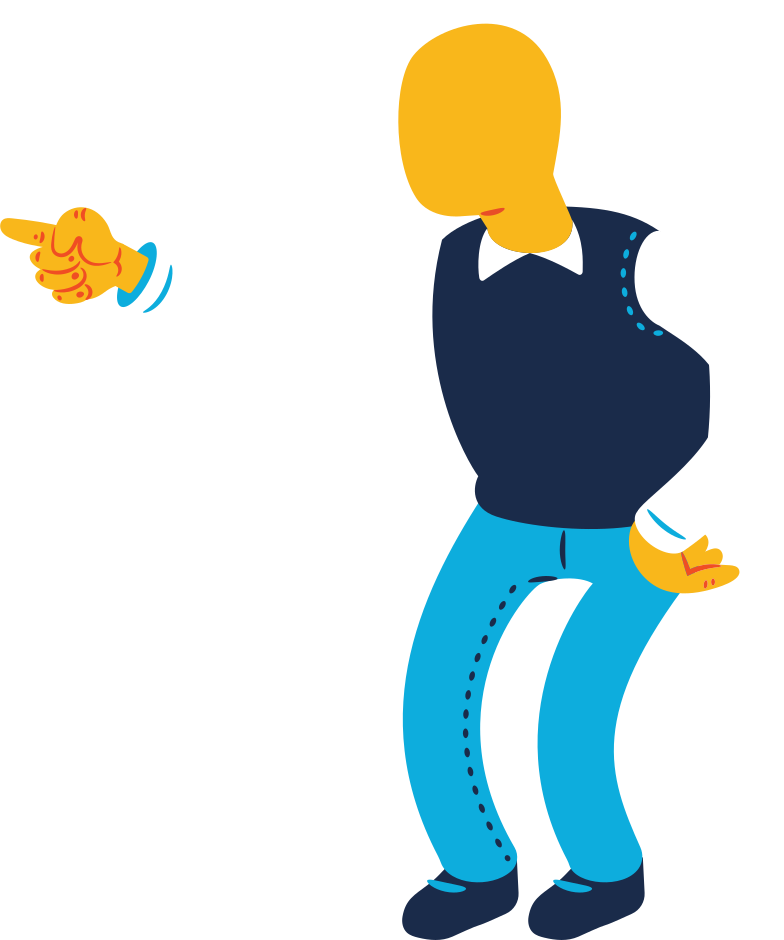 old man pointing Clipart illustration in PNG, SVG