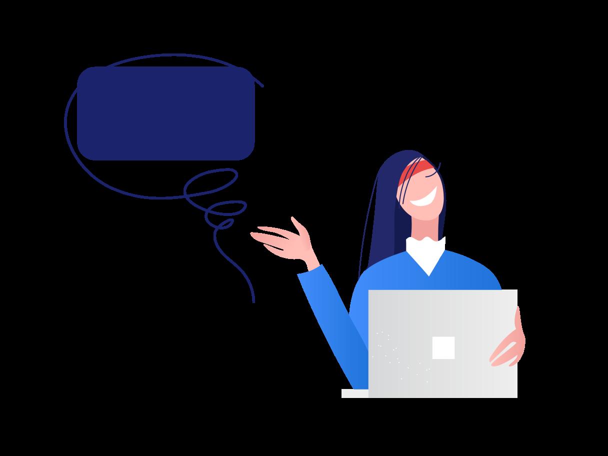 Online consultation Clipart illustration in PNG, SVG