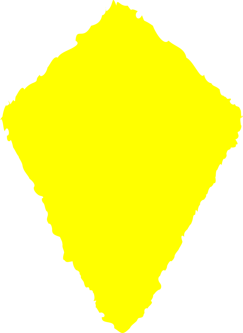 kite yellow Clipart illustration in PNG, SVG