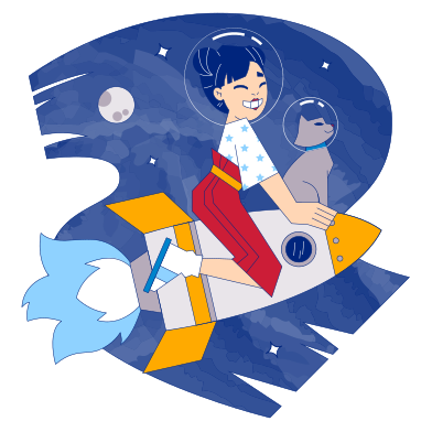 style Cosmic adventure images in PNG and SVG | Icons8 Illustrations