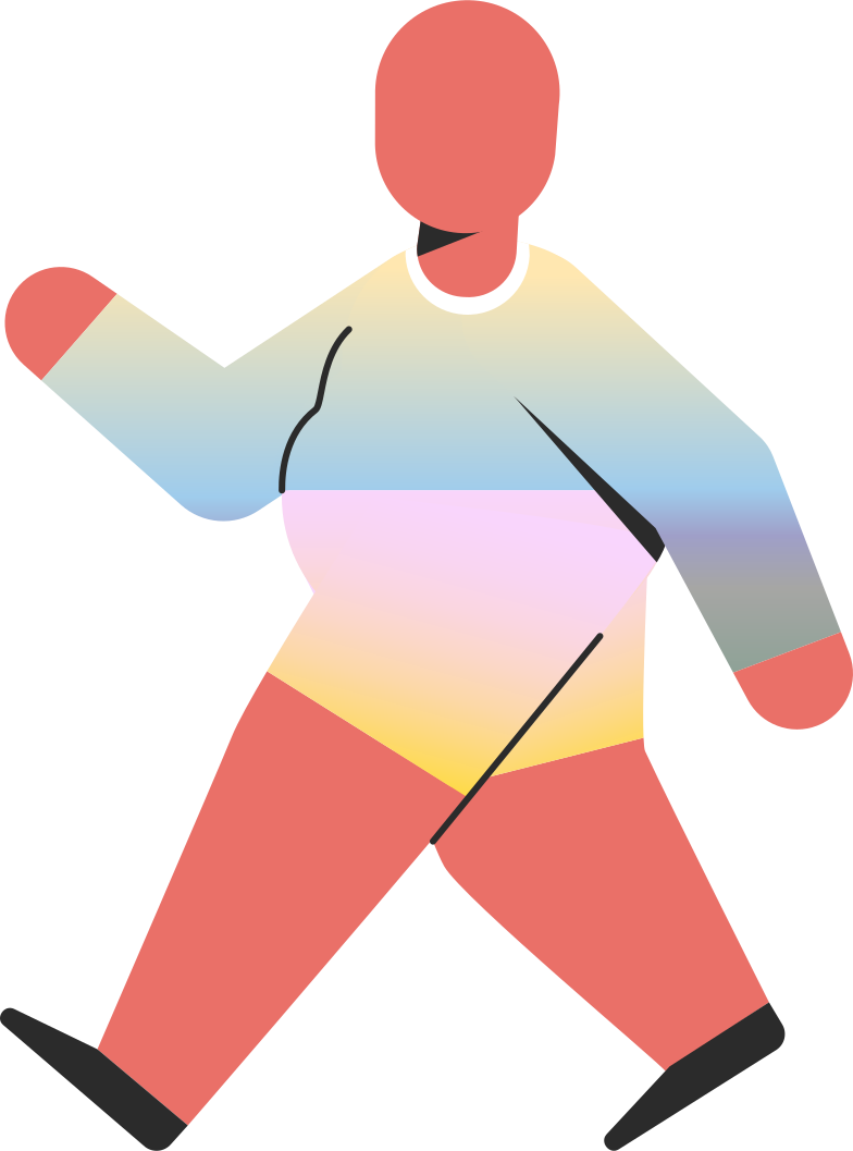 chubby child walking Clipart illustration in PNG, SVG