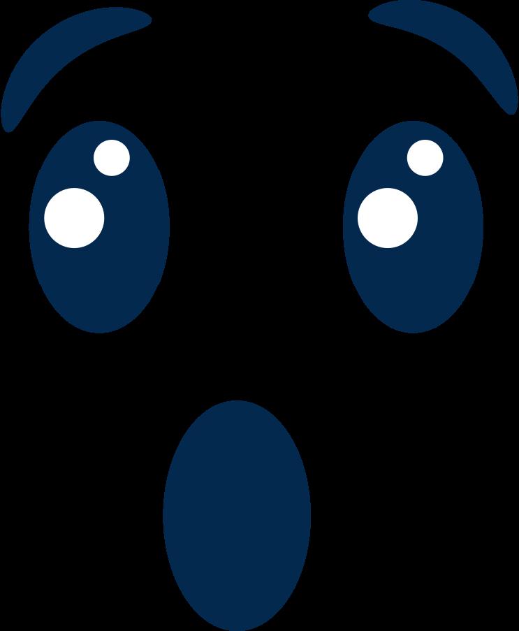 Ilustración de clipart de Emoción conmocionada en PNG, SVG