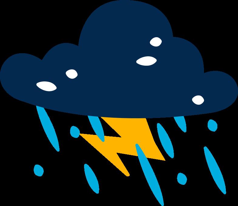 cloud lighting rain Clipart illustration in PNG, SVG