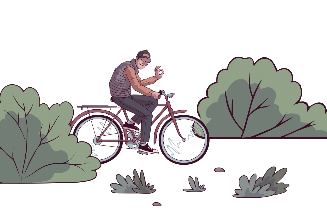 Riding in the park Clipart illustration in PNG, SVG