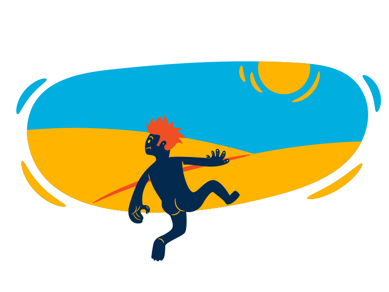 Sunbathing vacation Clipart illustration in PNG, SVG