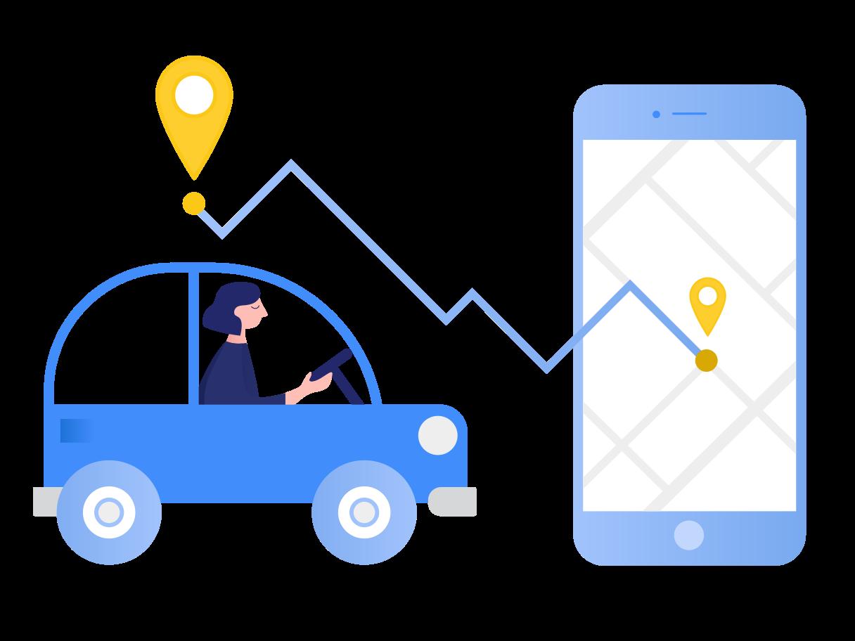 Navigation app Clipart illustration in PNG, SVG