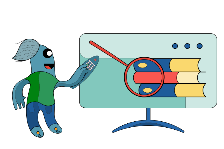Educational channel Clipart illustration in PNG, SVG