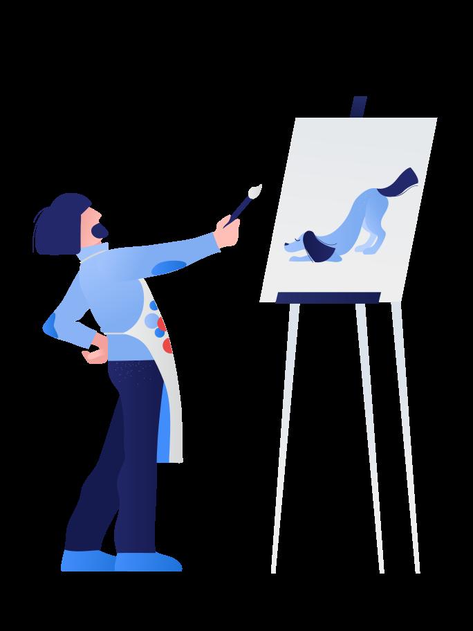 Artist Clipart illustration in PNG, SVG