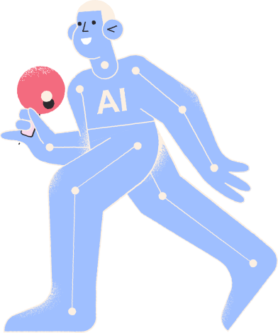 Иллюстрация игрок в настольный теннис в стиле  в PNG и SVG | Icons8 Иллюстрации