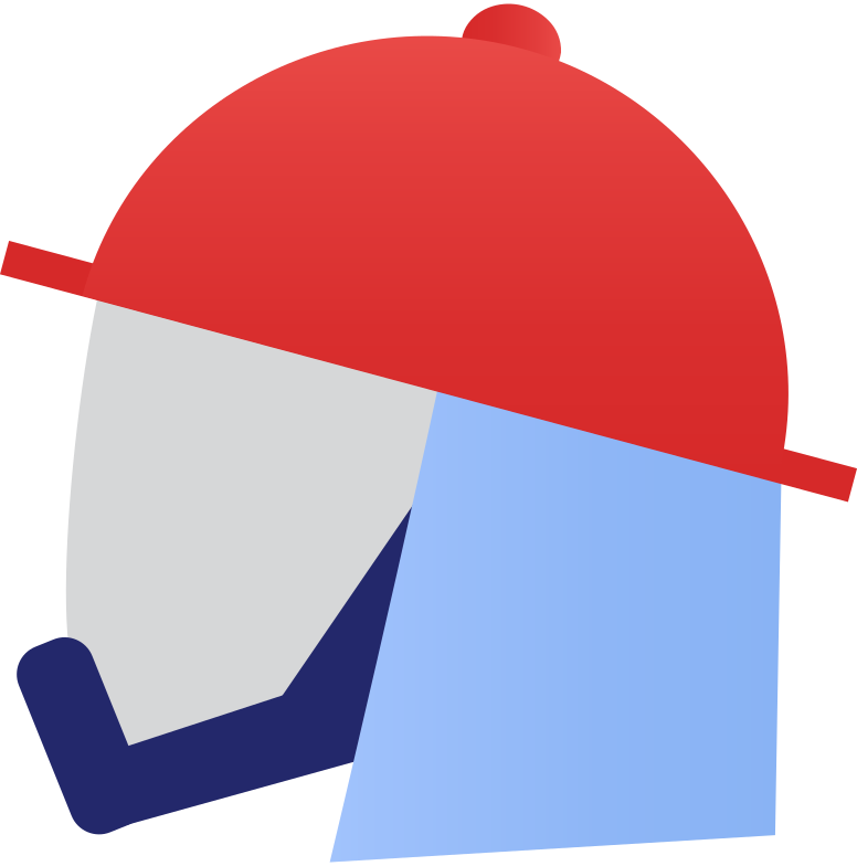 firefighter mask Clipart illustration in PNG, SVG