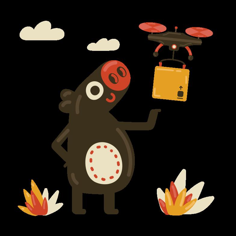 Good delivery Clipart illustration in PNG, SVG