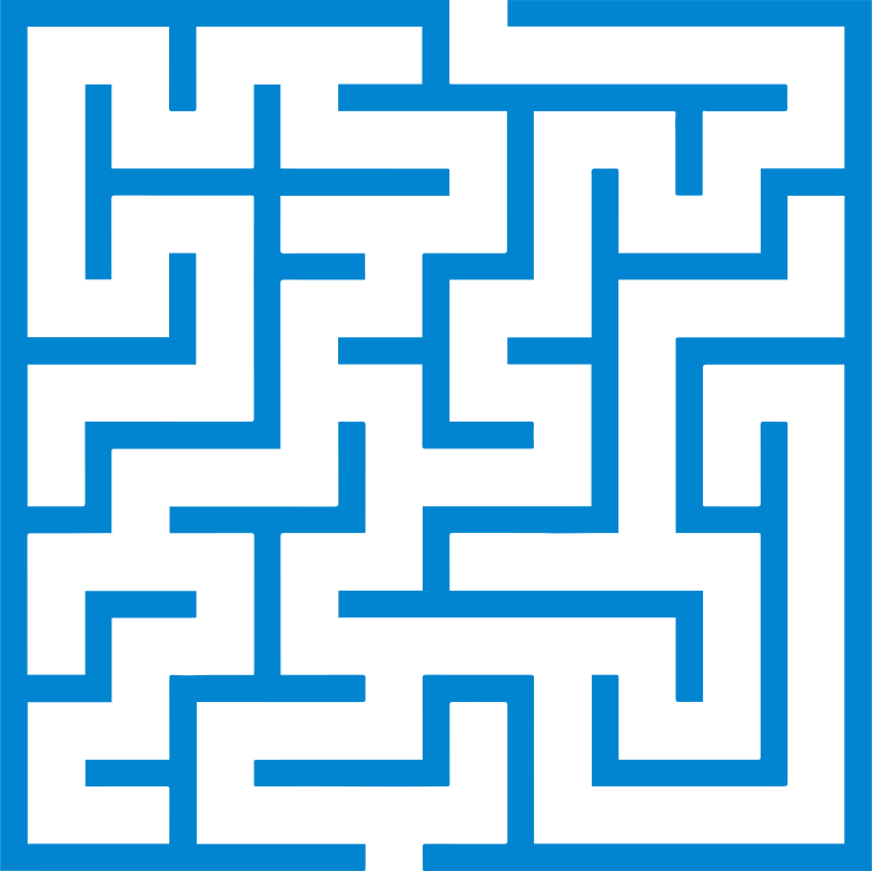 maze Clipart illustration in PNG, SVG