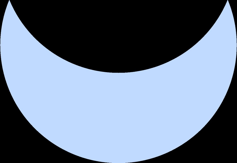 crescent blue Clipart illustration in PNG, SVG