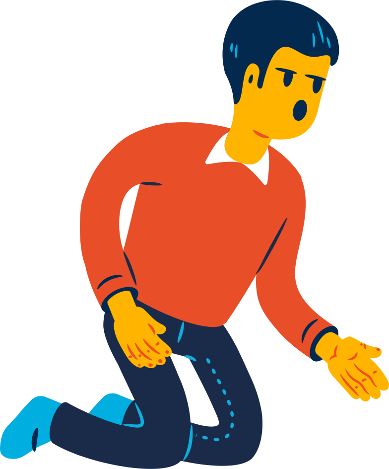 kneeling man Clipart illustration in PNG, SVG