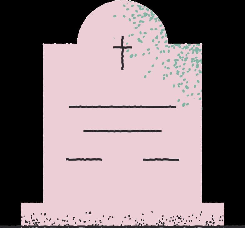 Ilustración de clipart de headstone en PNG, SVG