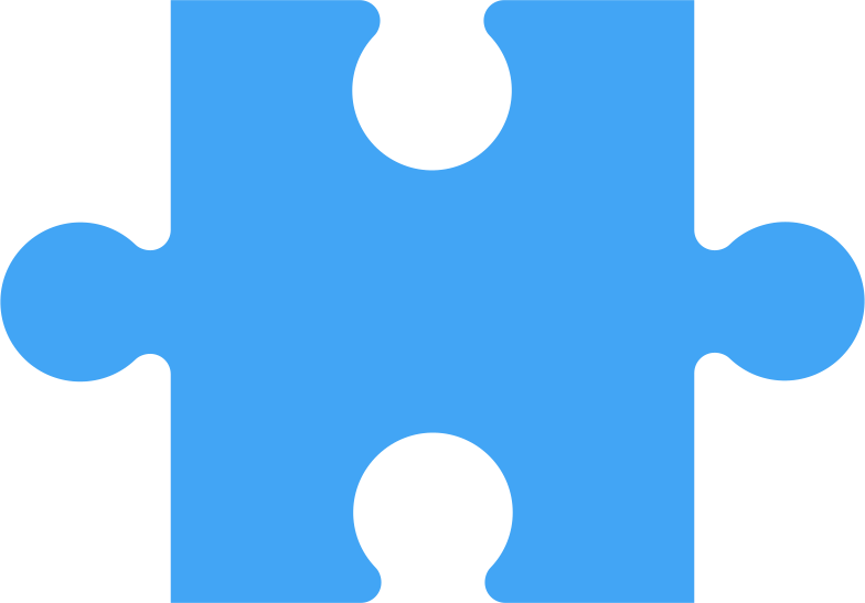 puzzle piese blue Clipart illustration in PNG, SVG