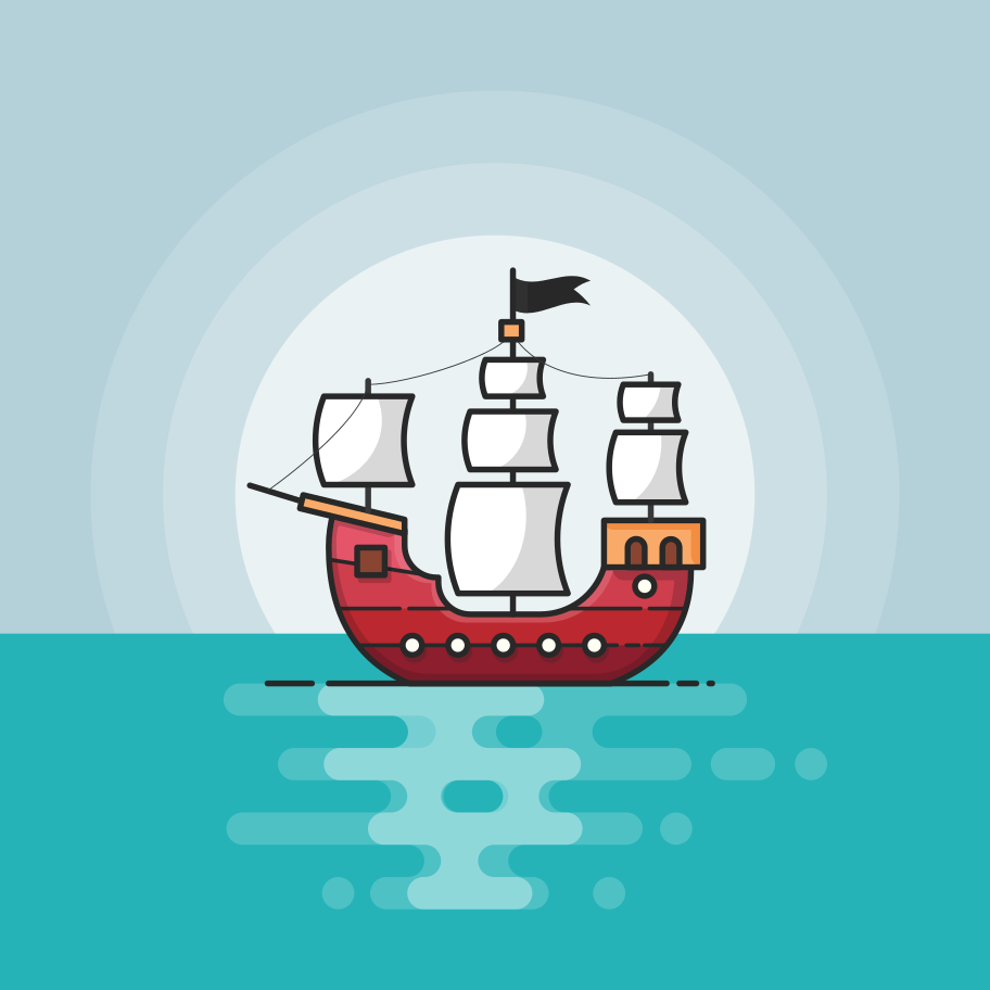 Pirate boat Clipart illustration in PNG, SVG