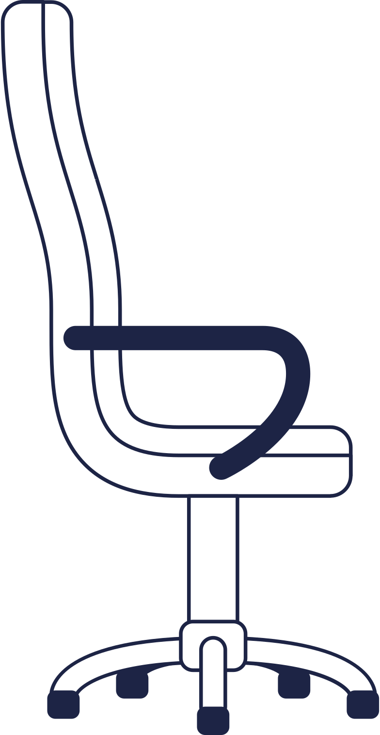 workflow  office chair line Clipart illustration in PNG, SVG