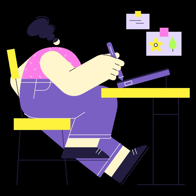 Digital artist Clipart illustration in PNG, SVG