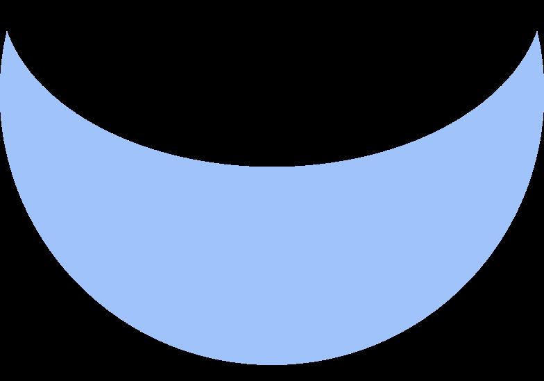 Иллюстрация Полумесяц синий в стиле  в PNG и SVG | Icons8 Иллюстрации