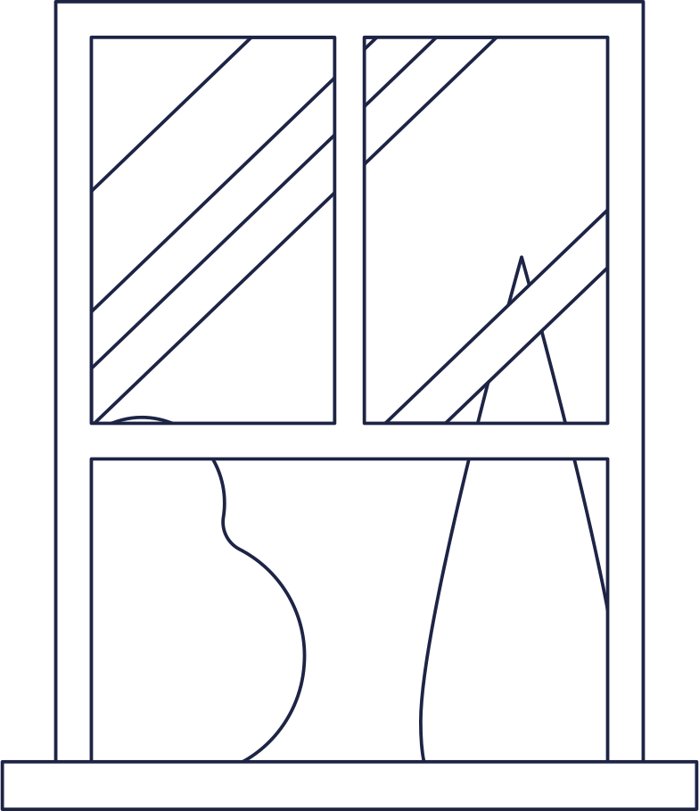 page under construction  window in room 1 line Clipart illustration in PNG, SVG