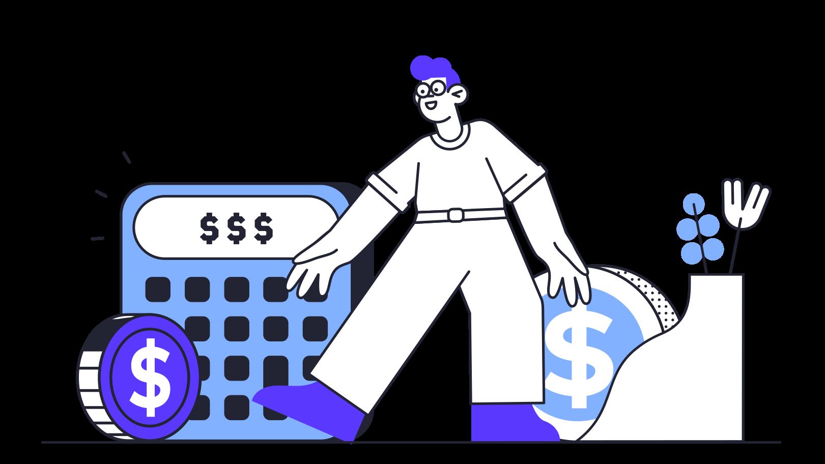 Einsparungen und einkommen Clipart-Grafik als PNG, SVG