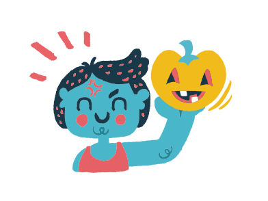 style Happy pumpkin images in PNG and SVG | Icons8 Illustrations