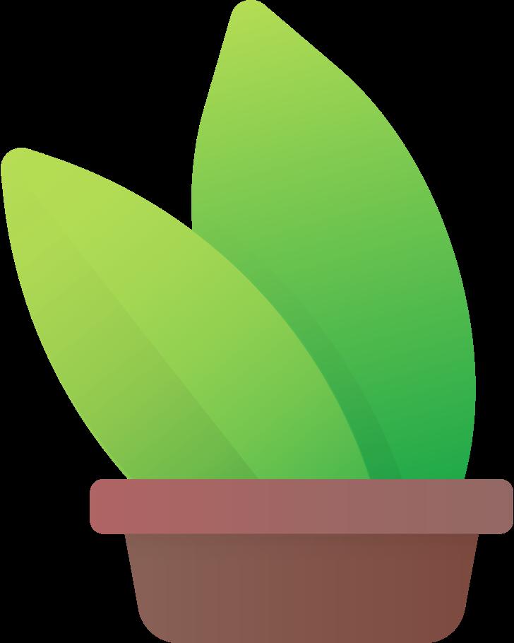Ilustración de clipart de Planta en PNG, SVG