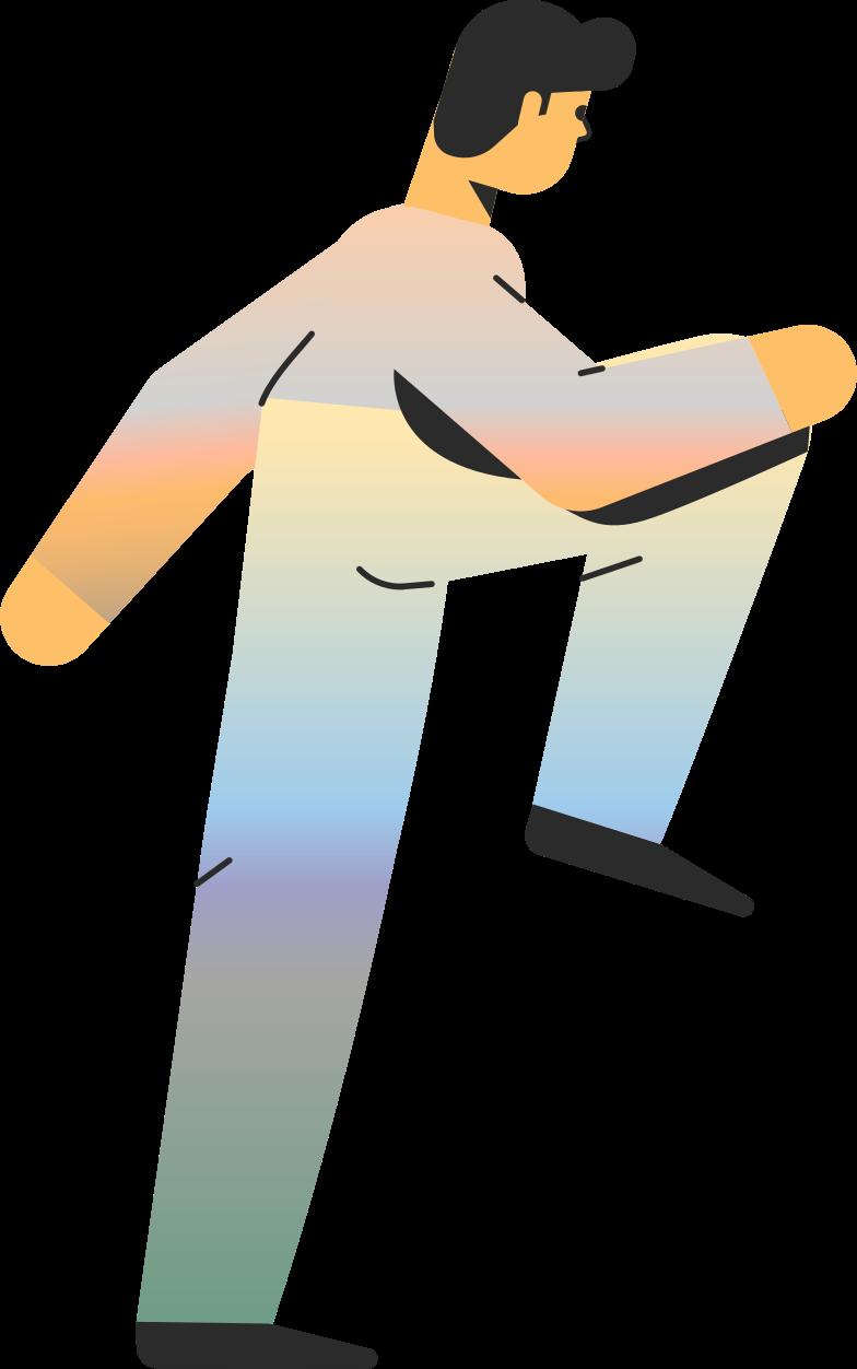 man rises Clipart illustration in PNG, SVG