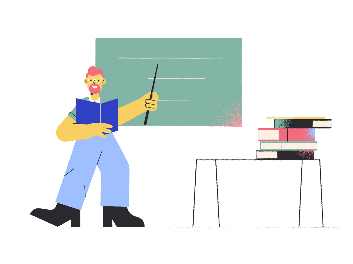 style School teacher in the classroom Vector images in PNG and SVG   Icons8 Illustrations