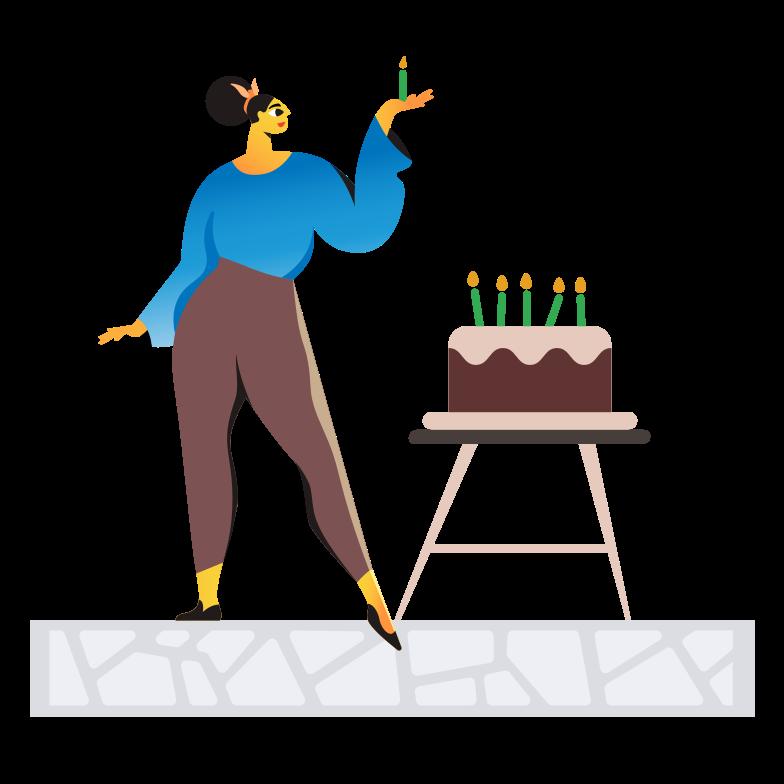 Иллюстрация С днем рождения в стиле  в PNG и SVG | Icons8 Иллюстрации