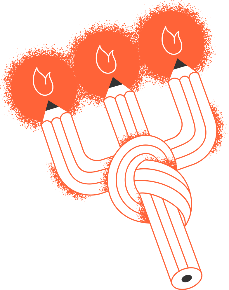 candles pencils Clipart illustration in PNG, SVG