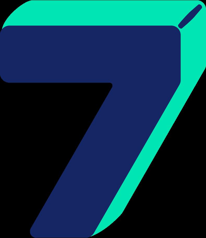 number seven Clipart illustration in PNG, SVG