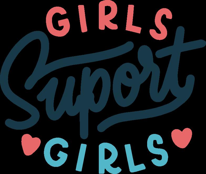 girls-suport-girls Clipart illustration in PNG, SVG