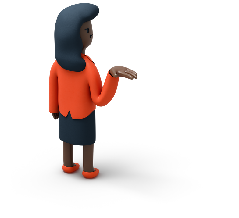 woman angry Clipart illustration in PNG, SVG