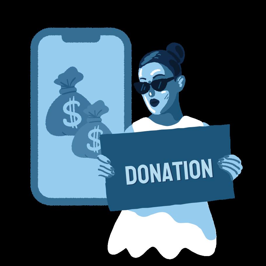 Online donation Clipart illustration in PNG, SVG