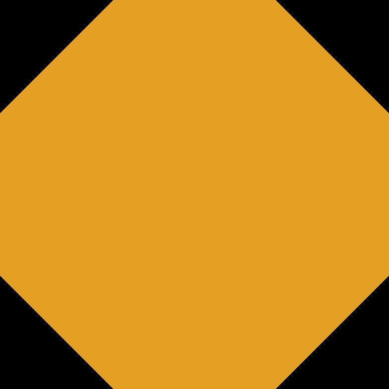 Achteck orange Clipart-Grafik als PNG, SVG
