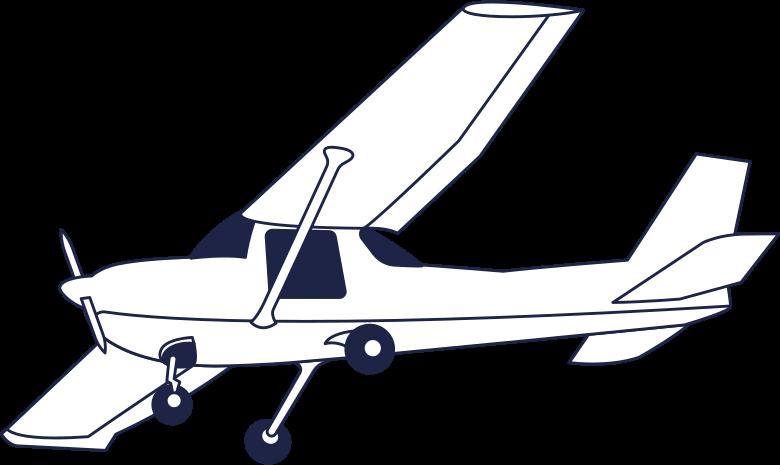 delta plane line Clipart illustration in PNG, SVG