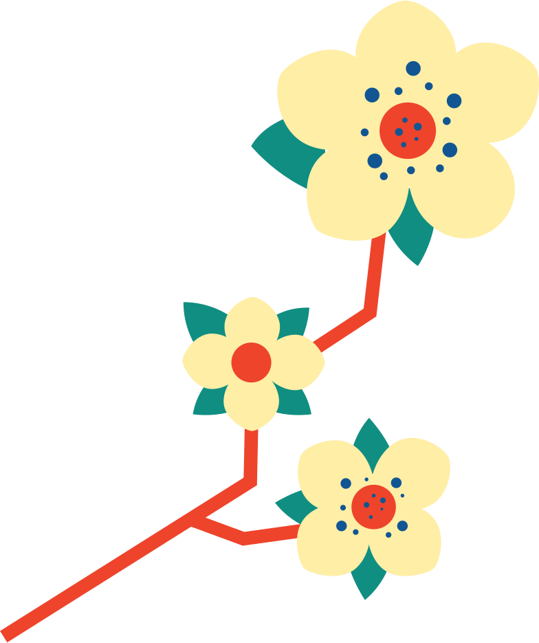 plum blossom Clipart illustration in PNG, SVG