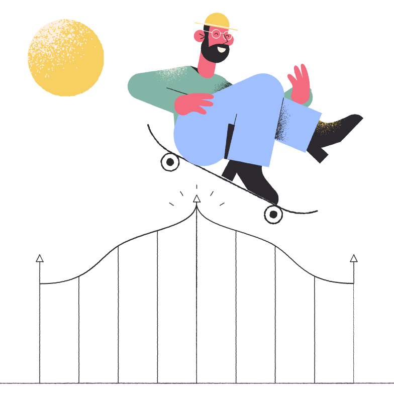 Skater Clipart illustration in PNG, SVG