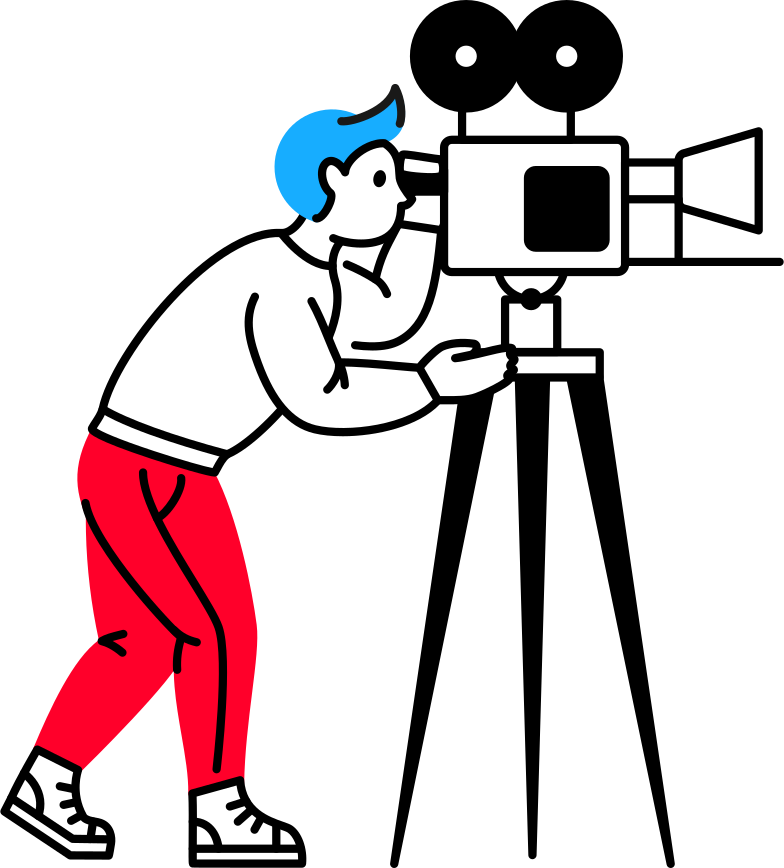 man with video camera Clipart illustration in PNG, SVG